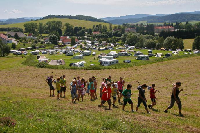 Kinderanimatie camping Chvalsiny