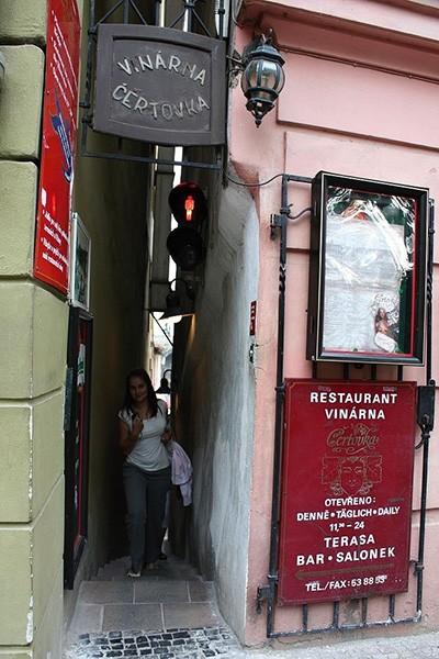Restaurant smalste straatje Praag