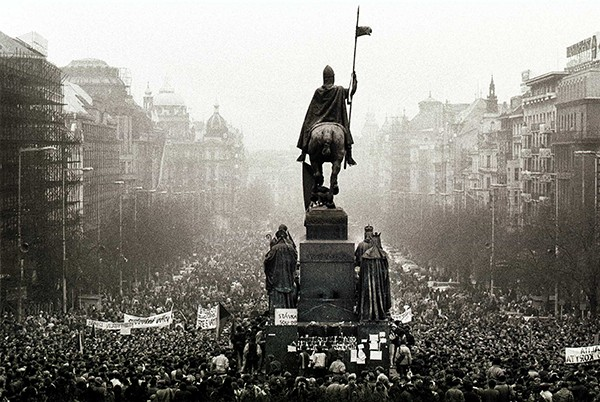 Opstand 1989 Wenceslasklein