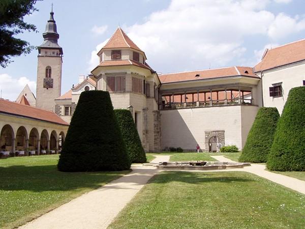 Binnenplaats kasteel Telc Unesco