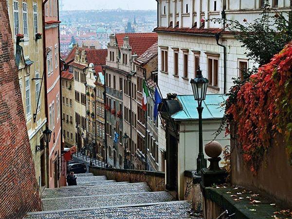 Trap naar Hradcany Praag