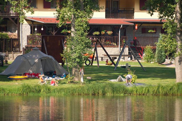 Camping Vidlak vanaf steiger
