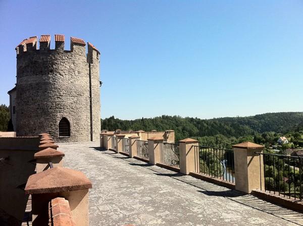 Uitzicht kasteel Cesky Sternberk