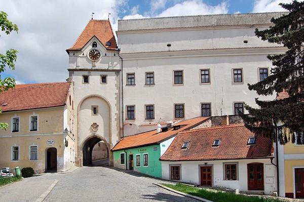 Poort Kasteel Jindrichuv Hradec