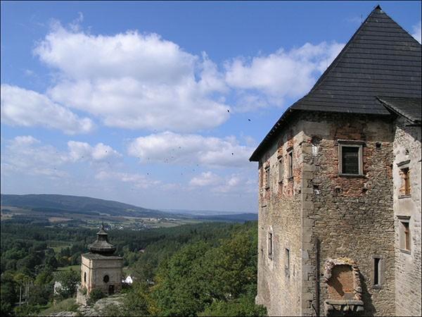 Uitzicht kasteel Lipnice