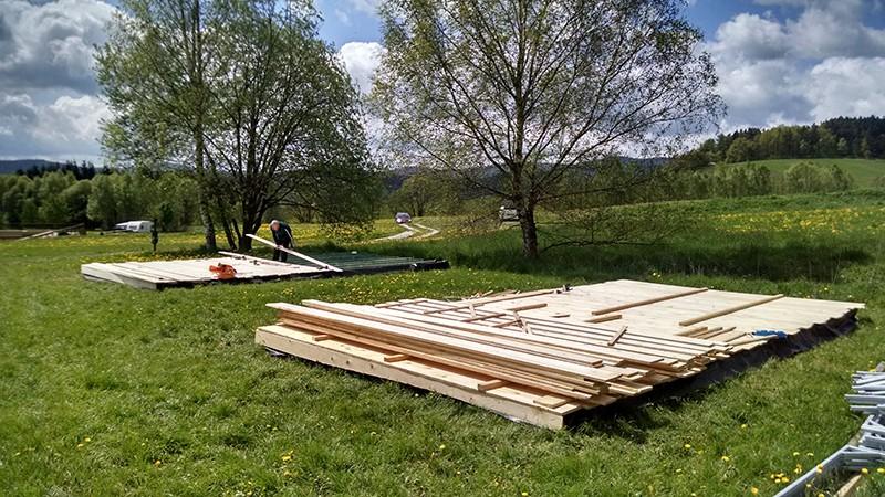 Vlonder bouwen huurtent Tsjechie