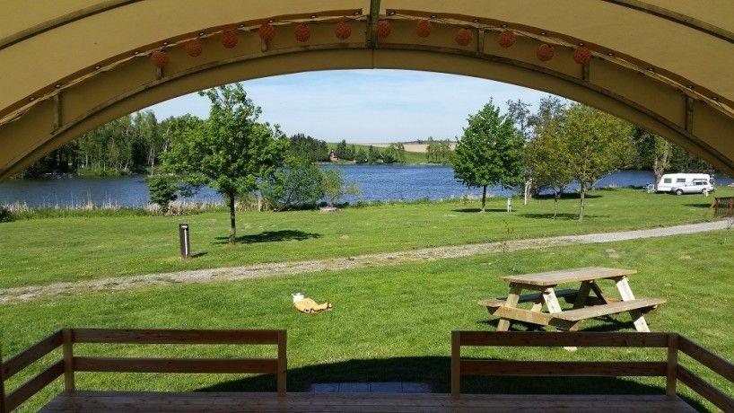 Uitzicht camping Vidlak