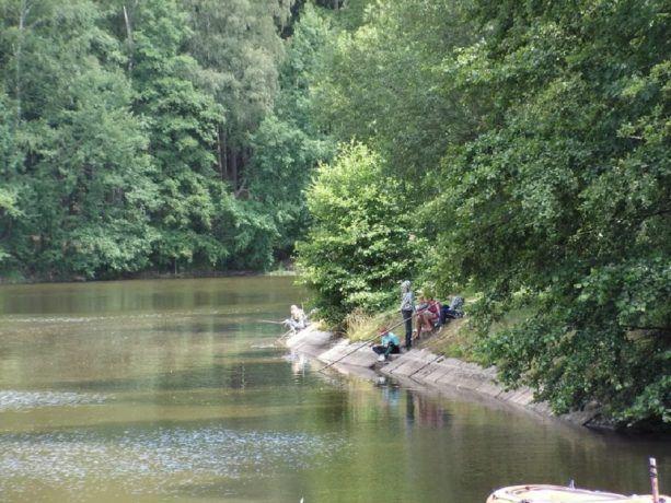 Vissen op camping Fontana
