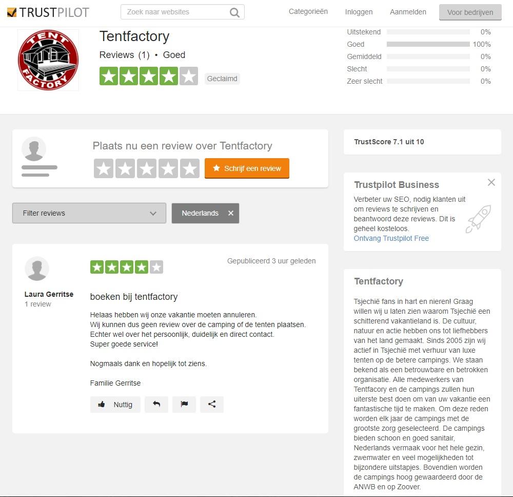 Tentfactory reviews