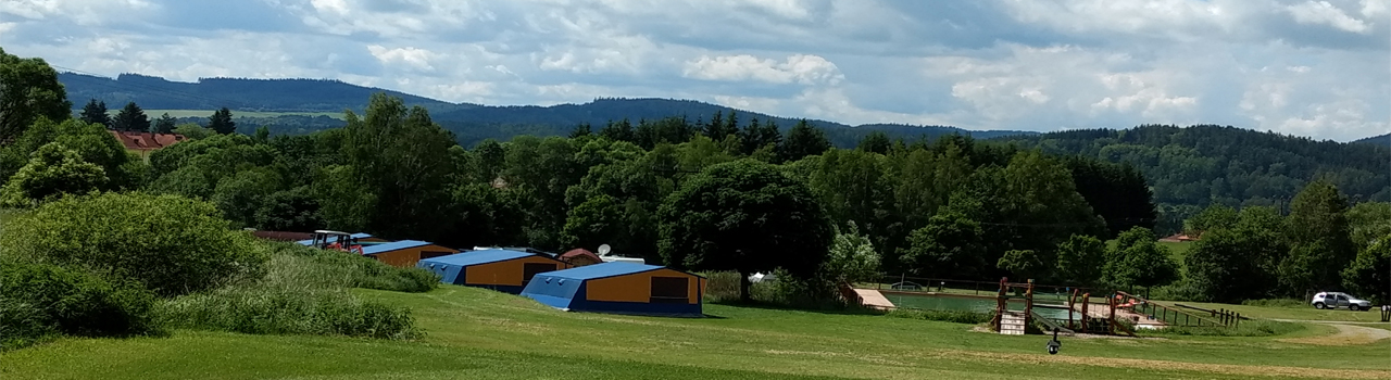 Bungalowtent camping Chvalsiny Tsjechie